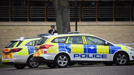 Police were called to an armed robbery off Westwick Street in Norwich on Monday evening Picture: DEN
