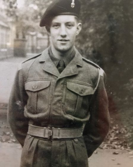 Barry Henry, pictured during his service days. Photo: Barry Henry