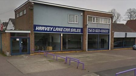 New homes could be built on the former Harvey Lane Car Sales site in Norwich. Pic: Google Street Vie