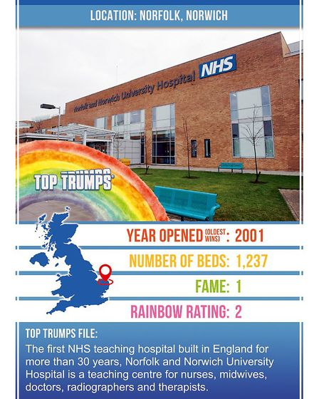 Top Trumps is set to release Britain at its Best pack which features the Norfolk and Norwich Univers