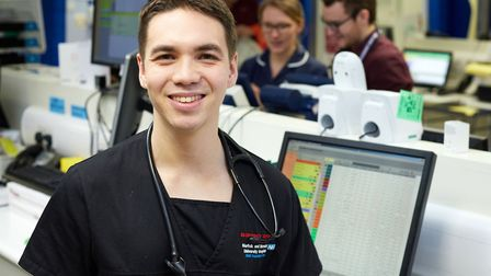 Dr Shaun Price, a doctor who works in accident and emergency at the Norfolk and Norwich University H