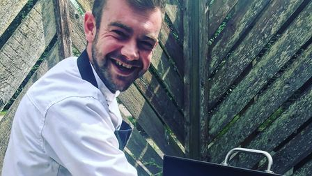 Chef Sam Brown, who runs Ginger Lily Catering, has launched Giant Yorkie Roast Co. Picture: Ginger L