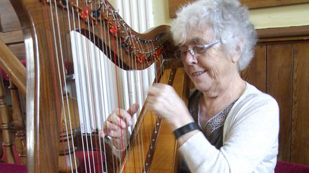 Ceinwen Thomas, 81, from Norwich, who has been putting on musical performances for the Clap for Our