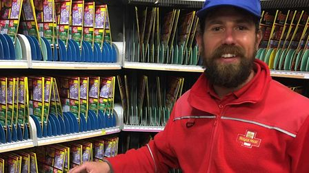 Norwich postman Jonny Wilson, 38, who is not shaving his facial hair for a year for charity. Picture