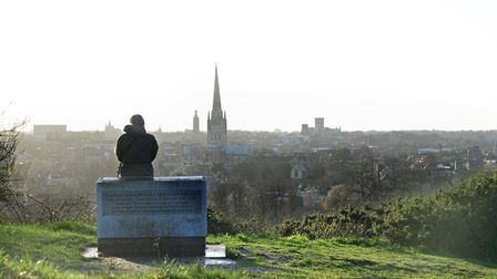 The view from St James' Hill, Mousehold Heath, Norwich. PHOTO BY SIMON FINLAY