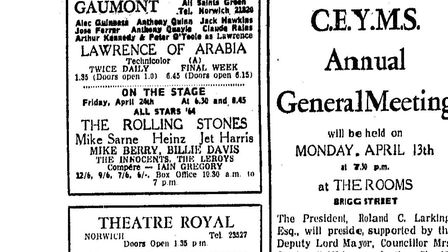 The Rolling Stones at the Gaumont. Date: Evening News 13 April 1964.