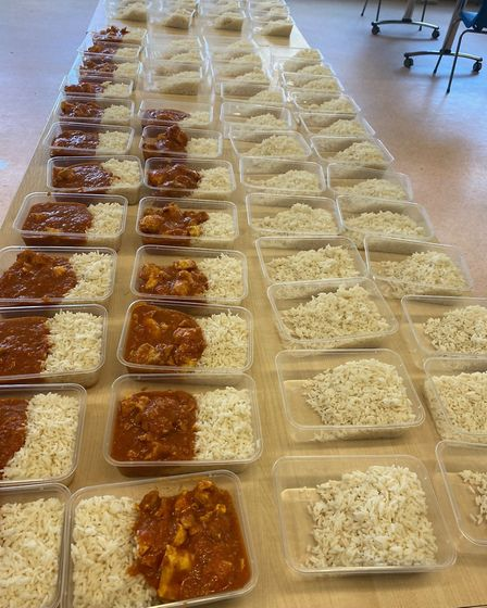 Norwich School's catering team have, so far, made and shared just under 1600 meals. Picture: Norwich