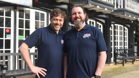 Chris Carr and Ian Hacon, at the Zaks at Mousehold. Picture: Brittany Woodman
