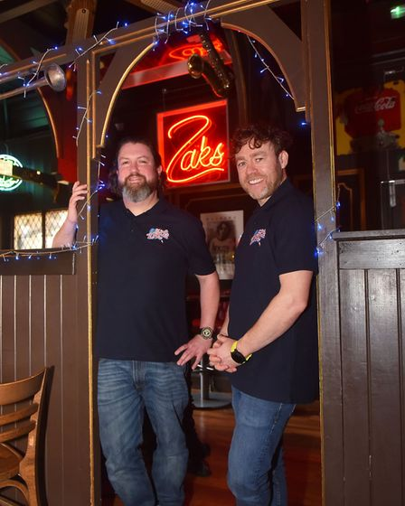 Chris Carr and Ian Hacon who have purchased Zaks Mousehold Norwich Pictures: Brittany Woodman