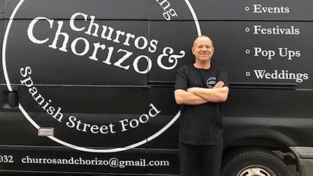 Nick Brewer from Chrurros and Chorizo is launching home deliveries. Photo: Nick Brewer