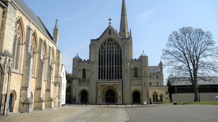 Norwich Cathedal closed and deserted on Easter Sunday. Picture: Simon Parkin