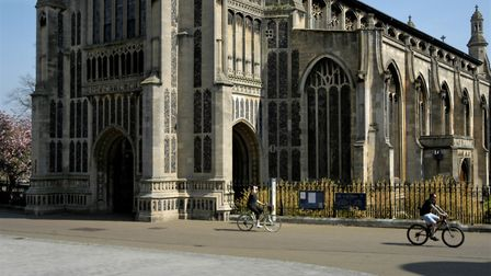 St Peter Mancroft closed to worshippers on Easter Sunday because of the coronvirus restrictions. Pic