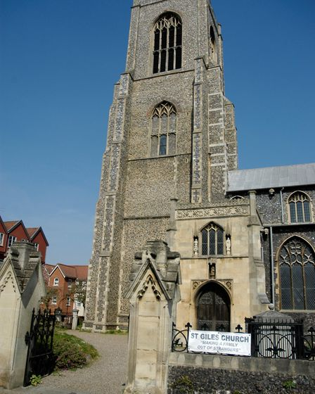 St Giles Church in Norwich closed to worshippers on Easter Sunday because of coronavirus restriction