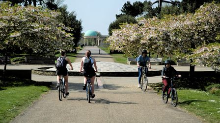 Eaton Park in Norwich on Easter Sunday. Picture: Simon Parkin