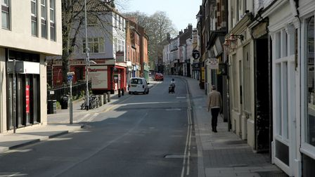 St Benedicts Street in Norwich on Easter Sunday. Picture: Simon Parkin