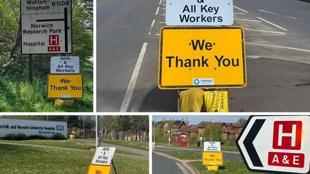 Tarmac Traffic Management Norwich have placed signs around the Norfolk and Norwich University Hospit