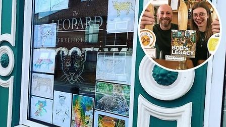 The landlords of The Leopard pub in Norwich, Justin McKee and Emma Byrne, are inviting customers to