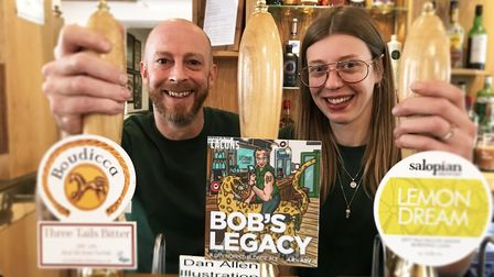 Couple Justin McKee and Emma Byrne took over The Leopard pub in Norwich in November 2019. Picture: E