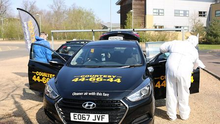 Evander have supported Courtesy Taxis offering free journeys for Norfolk and Norwich Hospital staff