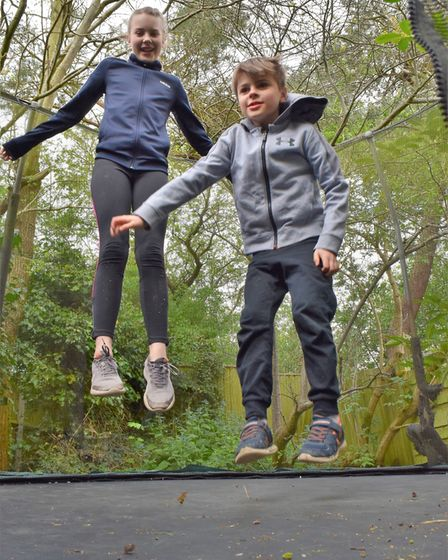 Ella and Tom Boag have bounced the equivalent height of Mount Everest, with the help of some friends