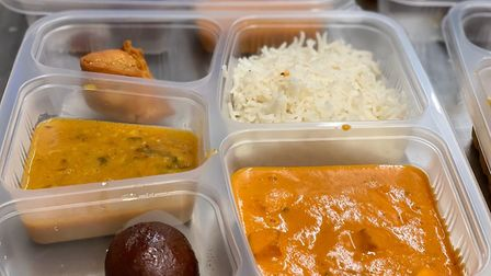 One of the meals prepared by chefs at Namaste Village Indian restaurant on Queens Road, Norwich, fo