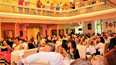 Diners inside Namaste Village Indian restaurant on Queens Road, Norwich, before it temporarily shut