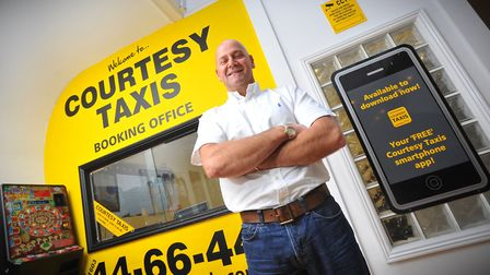 Mark Streeter, owner of Norwich taxi company Courtesy Taxis.PHOTO BY SIMON FINLAY