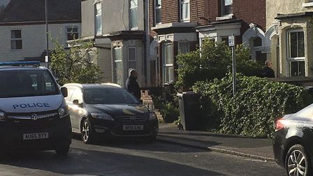 Police were called on Tuesday night to number 10, Kerrison Road. Pic: Archant