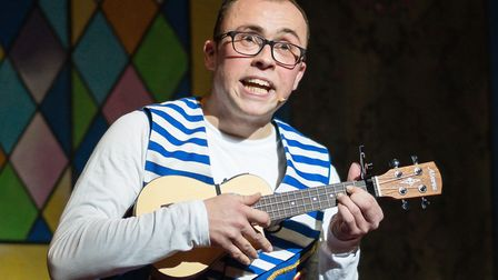 Joe Tracini as Buttons in Cinderella at Norwich Theatre Royal Picture: Richard Jarmy