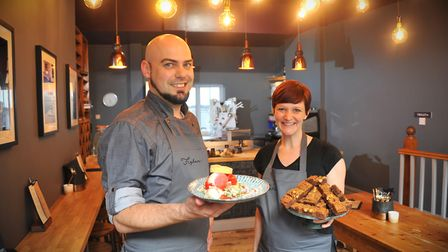 Jaime and Stephanie Garbutt who own Figbar in Norwich Picture: Simon Finlay