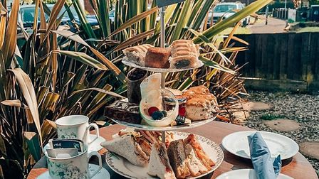 Afternoon tea is available for delivery from Walnut Tree Catering Credit: Walnut Tree Catering