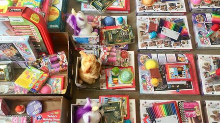 Toys and art materials are being delivered to pupils at Hewett Academy in Norwich during the coronav