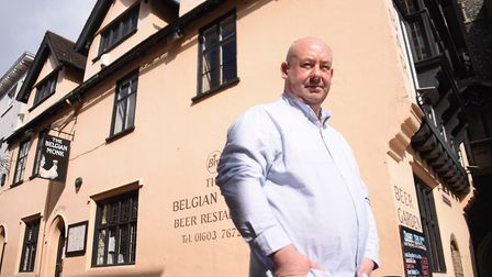 Terry Hughes, one of the partners at the Belgian Monk. Picture: DENISE BRADLEY