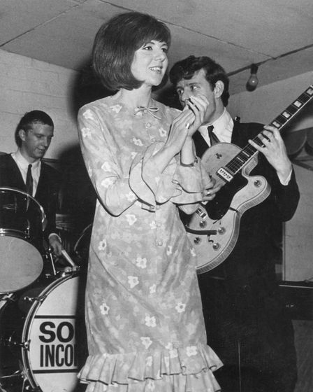 Cilla at Cromer in April of 1964 when The Stones were appearing at the old Gaumont (now pulled down)