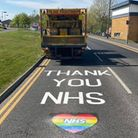 East Anglian Road Markings Ltd paid tribute to key workers with a special marking outside the Norfol