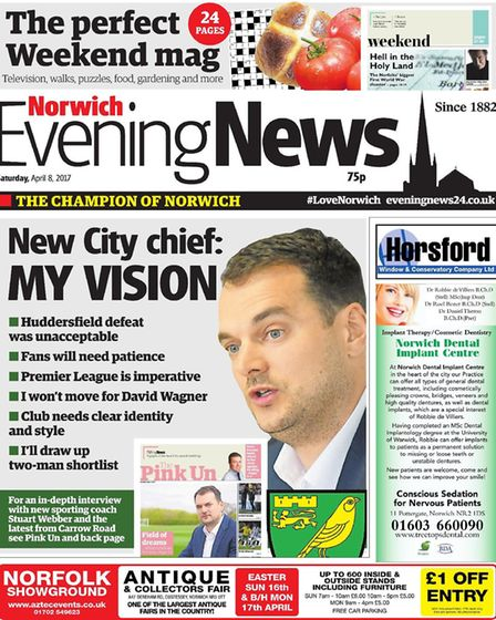 Previous front pages from the Norwich Evening News in Aprils. Photo: Archant