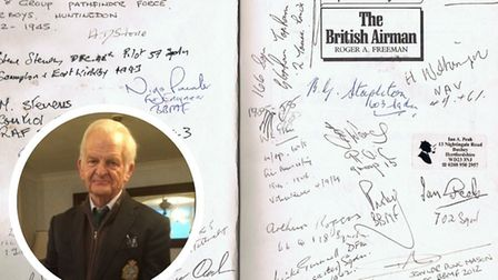 Andrew Stevenson, who lives near Swaffham, has been collecting the signature of pilots and others wh