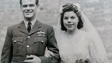 Kenneth and Ivy Booth on their wedding day in Derby in July 1945. Picture: Sent in by Pat French