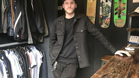 Jack Cooper, 19, launched the skateboard store Supply on Norwich market after succesfully launching