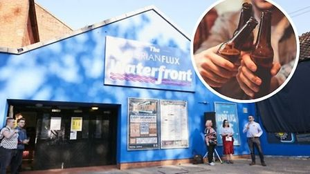 The Waterfront in Norwich has launched a click and collect service of its drinks during lockdown Pic