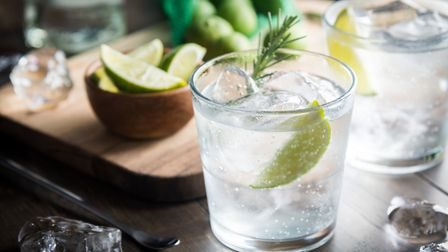 Bottles of gin are also available so you can make a G&T at home. Picture: Getty Images/iStockphoto/a