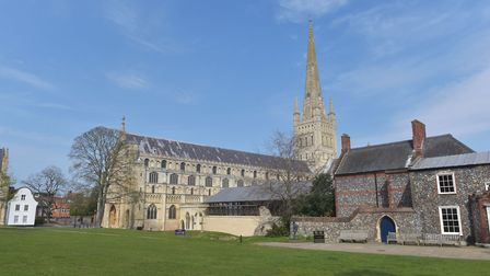 Norwich cathedral has planned a poignant digital service to mark VE day. Pictures: BRITTANY WOODMAN