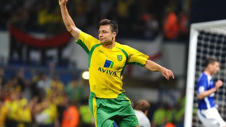 Russell Martin sporting the Aviva logo during Norwich City's famous 5-1 derby win at Ipswich during