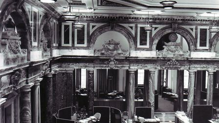 The marble hall at the headquarters of Norwich Union in Surrey Street, Norwich. Photo: Archant Libra