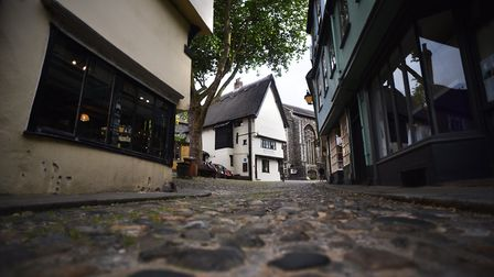 The famous cobbles of Norwich's Elm Hill. Picture: Antony Kelly