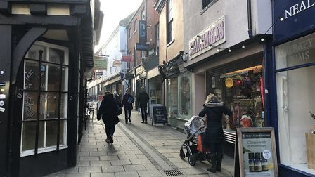 The picturesque Norwich Lanes is a brilliant place to stroll and offers a different shopping experie