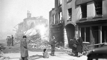 The Crown Pub on St Benedicts Street, April 1942. Picture: :Archant Library
