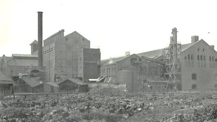 The former gasworks at Stt Martin at Palace Plain in Norwich. Photo: National Grid Gas Archives, War