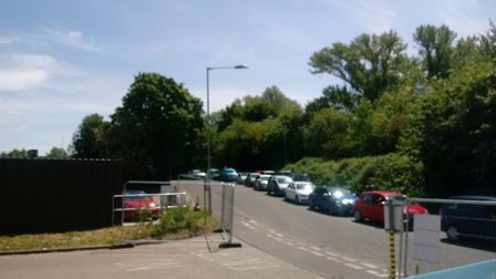 Long queues have been reported at Mile Cross Recycling Centre. Picture; Archant