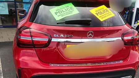 Mercedes SUV vehicle seized at Riverside retail park in Norwich. Picture: Norfolk Police